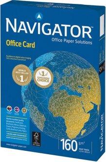 Бумага офисная Navigator Office Card A4 160 г/м2 класс A 250 листов Белая (5602024381377)