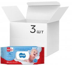 Упаковка влажных салфеток Bambik с овсяным молочком 3 пачки по 120 шт (4823071642858)