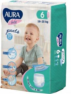 Трусики одноразовые для детей Aura 6/XXL 16-25 кг jambo-pack 37 шт (4752171005112)