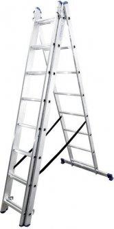 Алюминиевая трехсекционная лестница Virastar Triomax 3х8 ступеней (VTL038)