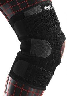 Стабилизирующий бандаж Dr.Frei S6058 на коленный сустав с 4 спиральными ребрами жесткости универсальный Чорный (7640162324618)