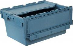 Пластиковый ящик Полимерцентр с крышкой 600х400х295 мм Маренго (N6428-ALC-59PTI)