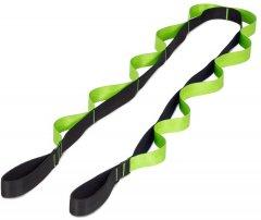 Ремень для стретчинга с петлями Prosource Multi-Loop Stretching Strap Черный/Зеленый (ps-2019-ss-bgreen)
