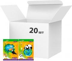 Набор цветной бумаги ZiBi A4 14 листов 7 цветов 70 г/м2 20 упаковок Ассорти (ZB.1907)