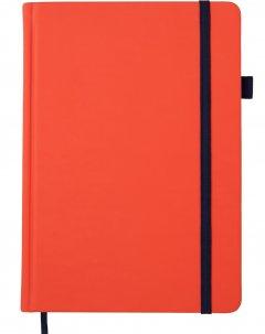 Деловой блокнот Buromax Bright A5 черная бумага без линовки 96 листов обложка из искусственной кожи Оранжевый (BM.295401-10)