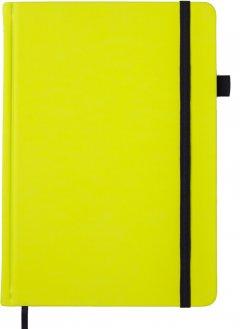 Деловой блокнот Buromax Bright A5 черная бумага без линовки 96 листов обложка из искусственной кожи Желтый (BM.295401-08)