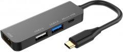 USB-хаб XoKo AC-400 Type-C to HDMI+USB 3.0+USB 2.0+Micro USB (XK-AC-400)