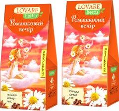 Упаковка чая Lovare цветочного со специями Ромашковый вечер 2 пачки по 20 пирамидок (2000006781154)