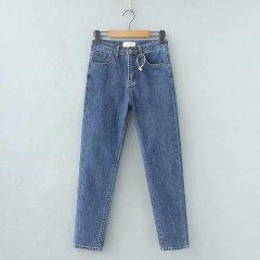 Джинси жіночі Straight Fit Strong Berni Fashion (L) Синій (54477)