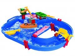 Игровой набор BIG Аква Плей. Строительство с краном машинкой лодкой и фигуркой 68х65х22 см 3+ (8700001501)