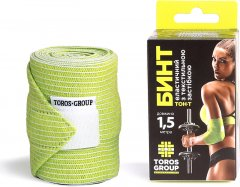 Бинт эластичный медицинский Торос-Груп с липучкой 8 см х 1.5 м Желто-зеленый (4820114094353)