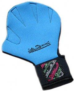 Перчатки для аквааэробики Sprint Aquatics Sprint с застежкой липучкой S Бирюзовые (SA/783/TQ-0S-00)