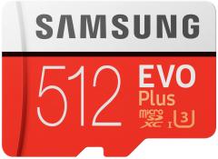 Samsung EVO Plus microSDXC 512GB UHS-I Class 10 + SD адаптер (MB-MC512HA/RU)