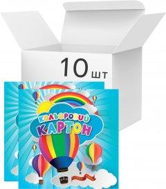 Упаковка картона цветного Аркуш А4 7 листов 7 цветов 200 г/м² 10 шт (1CC101)