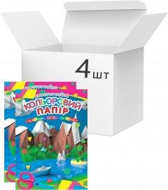 Упаковка двусторонней цветной бумаги Аркуш А4 16 листов 14 цветов 80 г/м² 4 шт (1CC106)