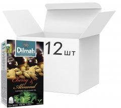 Упаковка чая Dilmah черного Вишня и Миндаль 12 пачек по 20 пакетиков (19312631142089)