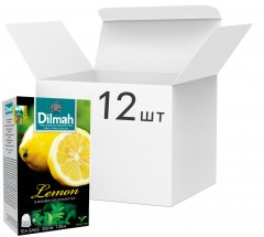 Упаковка чая Dilmah черного Лимон 12 пачек по 20 пакетиков (19312631142126)