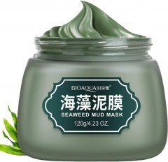 Очищающая маска для лица Bioaqua на основе зеленых бобов Маш витамина Е и вулканической грязи 120 г (6947790780740)