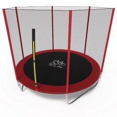 Батут Olimpic Sports FitToSky 183 см з захисною сіткою Червоний/Чорний