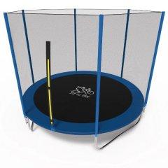 Батут Olimpic Sports FitToSky 252 см з захисною сіткою Синій/Чорний