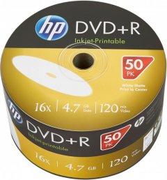 HP DVD+R 4.7 GB 16X IJ Print 50 шт (69304)