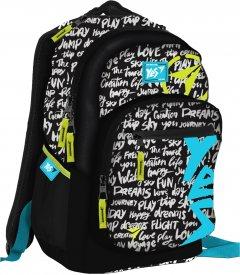 Рюкзак молодежный YES T-57 Sport женский 0.65 кг 31x47x20 см 29 л Черный (558358)