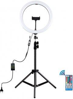 """Кольцевая LED лампа Puluz PKT3050EU 12"""" + штатив 1.1 м"""
