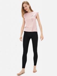 Комплект (футболка + леггинсы) ROZA 191213 L Розовый с черным (4824005565519)