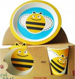 Набор детской посуды Fissman Пчелка 3 предмета (9494)