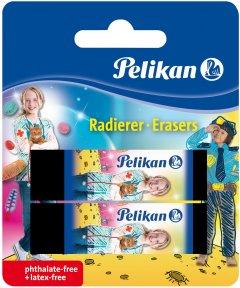 Ластики для карандаша Pelikan AB20 Girl черные 2 шт (622217G)