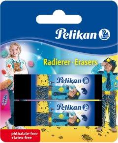 Ластики для карандаша Pelikan AB20 Boy черные 2 шт (622217B)