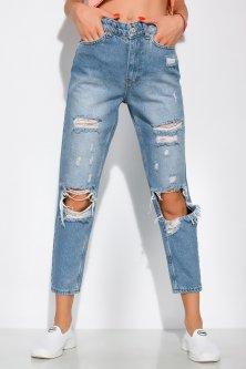 Рвані джинси модель Mom fit Time of Style 162P023 25 Синій
