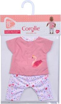 Набор одежды - блузка и штанишки Corolle Королевский Лебедь для пупса 30 см (9000110360)