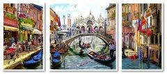 Картина модульная по номерам Babylon Каникулы в Венеции 50*110 см 3 модуля (в коробке) арт.VPT043