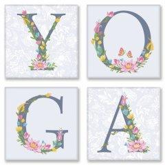 Картина модульная по номерам Идейка YOGA Прованс 18*18 см 4 модуля (в коробке) арт.CH116