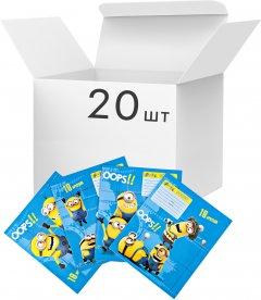 Упаковка школьных тетрадей Перо А5 в линейку 18 листов на скобе Despicable Me Universal Studios 20 шт (119070)