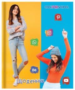 Школьный дневник Cool For School Social media 165х210 мм 48 листов (CF29932-43)