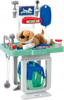 Игровой набор Ecoiffier Ветеринарный центр со столом и переноской для щенка (001908)