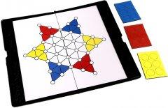 Магнитная настольная игра UB Chinese Checkers Китайские шашки мини (1684) (2000999554209)