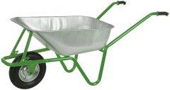 Тачка садовая/строительная 100 л. (150 кг) 1-колесная на подшипниках Kanat Mega Galvanized KMGD-571 Green/Gray