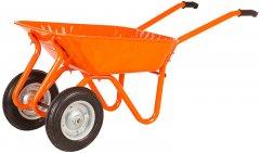 Тачка садовая/строительная 2-колесная на подшипнике Kanat Troyka TRD-482 80 л (150 кг) Orange (TRD-482)