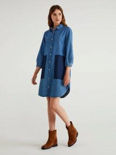 Платье джинсовое United Colors of Benetton 4XR65VBX4-901 M (8032592690330)