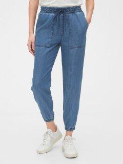 Джинсові штани літні джоггеры GAP art143023 (Блакитний, розмір XS)