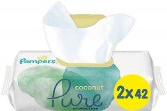 Детские влажные салфетки Pampers Pure Coconut 84 шт (8001841708874)