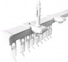 Карниз алюминиевый Алютерра Однорядный 250 см Белый (801060 250 см)