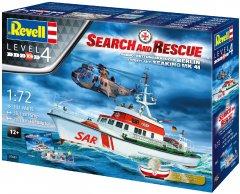 "Сборная модель Revell Набор катер ""Arkona"" и вертолет Sea King mk 41. Масштаб 1:72 (RVL-05683) (4009803056838)"