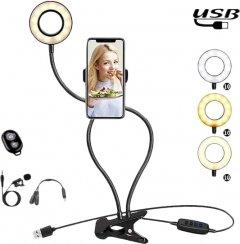 Набор блогера XoKo BS-100 + микрофон + пульт ДУ LED 9 см (BS-100+)