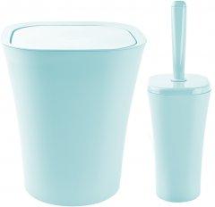 Набор аксессуаров для ванной комнаты PLANET Papillon 2 предмета серо-голубой