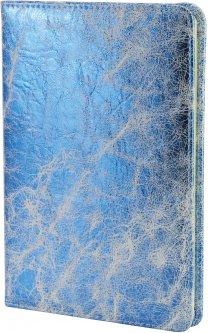 Блокнот с эко-кожи Maxi на магните А5 80 листов линия голубой (MX26237)