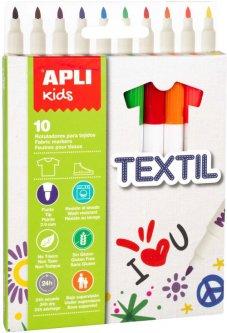 Набор маркеров Apli Kids для текстиля 10 цветов (18220) (8410782182207)